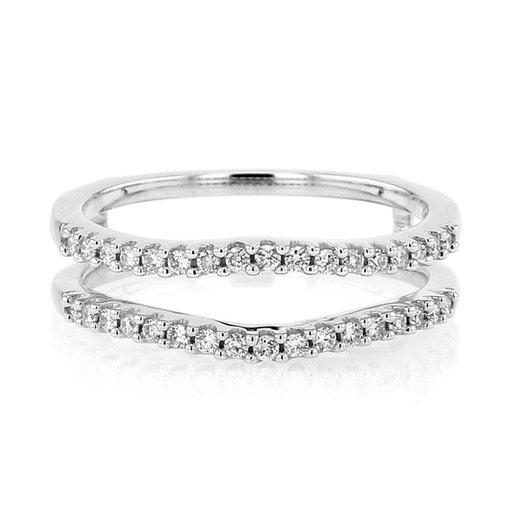 14K White Gold Diamond Cradle Ring, TWT .25