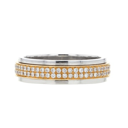 18K Two-Tone Eternity Band, TWT.54