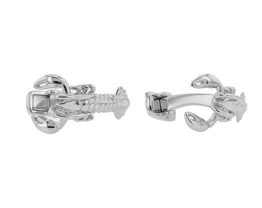 Sterling Silver Lobster Cufflinks