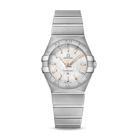 Omega Constellation Quartz White Mother-Of-Pearl Dial 27MM Ladies Watch