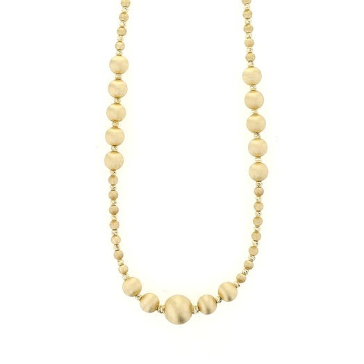 Allora 18K Yellow Gold Satin Bead Necklace