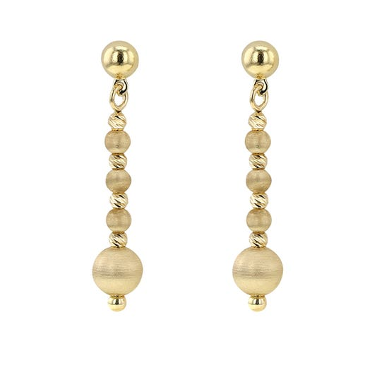 Allora 18K Yellow Gold Satin Bead Drop Earrings