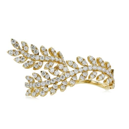 18k yellow gold diamond ear wrap