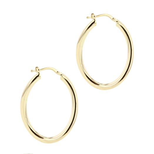 pear-shaped smooth yellow gold earrings