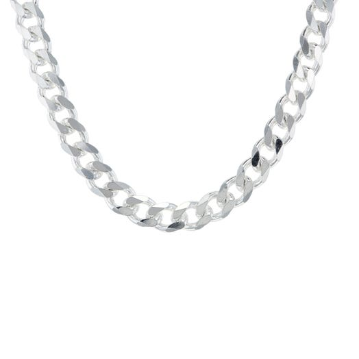 """Sterling Silver 5MM Curb Chain Necklace, 20"""""""