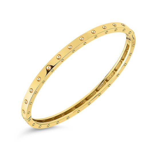 yellow gold thin bangle