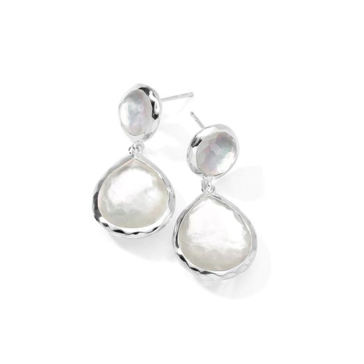 Ippolita Rock Candy® 2-Stone Dangle Earrings, Mother of Pearl, Sterling Silver