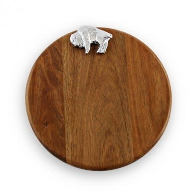 Beatriz Ball Custom Round Board with Buffalo
