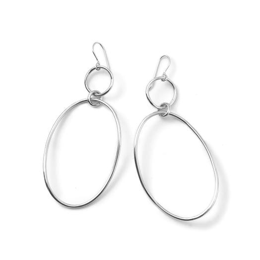 Ippolita Classico Large Wavy Snowman Earrings, Sterling Silver