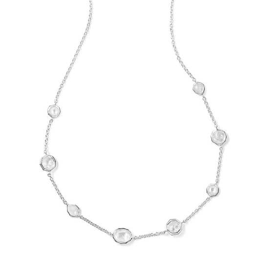 Ippolita Rock Candy® Mini Station Necklace, Flirt, Sterling Silver, 18 Inch