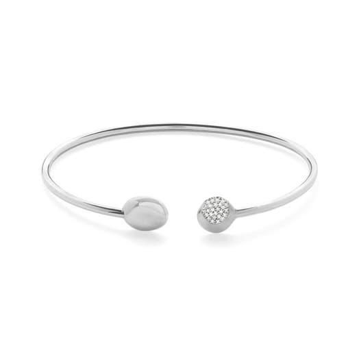 Ippolita Onda Diamond Pavé Tube Bracelet, Sterling Silver, .09TDW