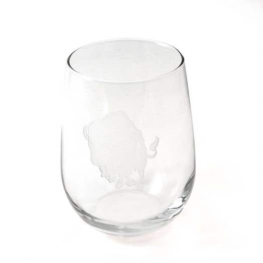 Charging Buffalo Stemless Wine Glass
