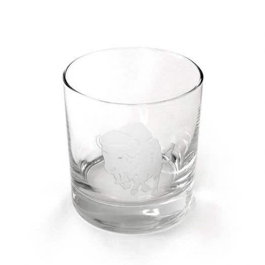 Charging Buffalo Single Old Fashion Glass