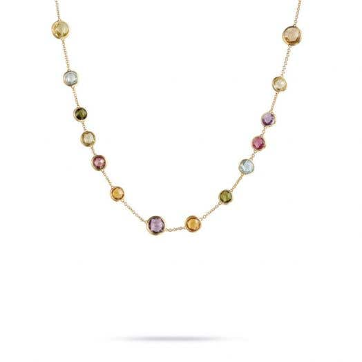 """Marco Bicego """"Jaipur"""" 18K Yellow Gold Multi-Colored Gemstone Necklace, 17"""""""