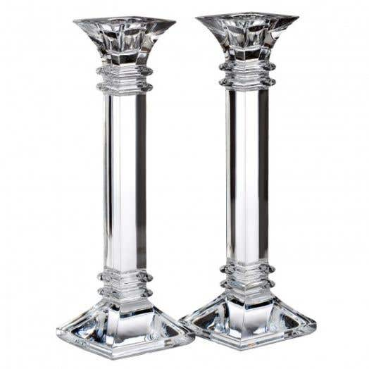 "Waterford Marquis Treviso 10"" Candlestick Pair"