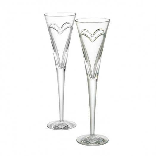 Waterford Wishes Love & Romance Pair of Toasting Flutes