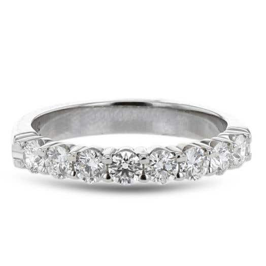 white gold diamond band with eight round-cut diamonds