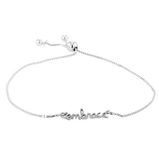 "Embrace The Difference® Bolo ""Embrace"" Bracelet in Sterling Silver"