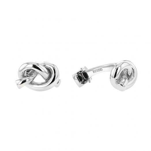 Rope Knot Cuff Links, Sterling Silver