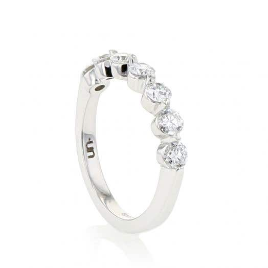 Unearthed Lab Grown 7 Diamond Band Ring .96 CT, 10K WG