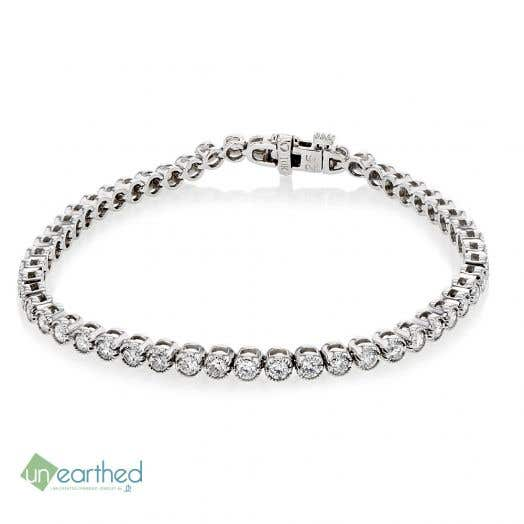 UNEARTHED LAB GROWN DIAMOND BRACELET 3 CT, 10K WG