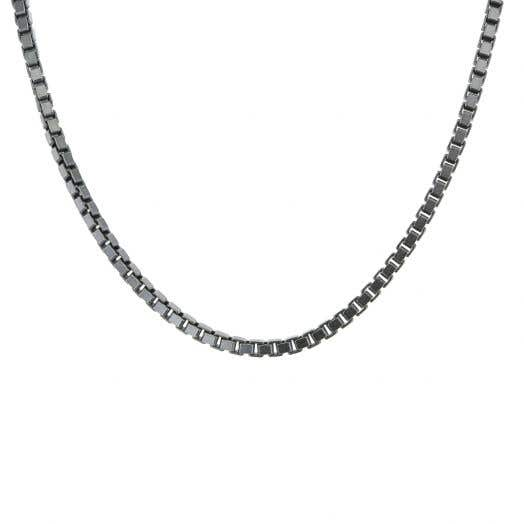 Sterling Silver Oxidized 2MM Box Chain, 20""