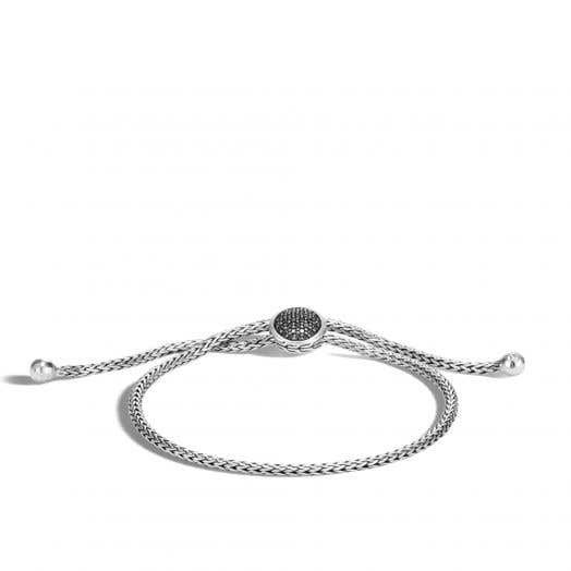 John Hardy Classic Chain Pull Through Bracelet,Black Sapphire, Black Spinel