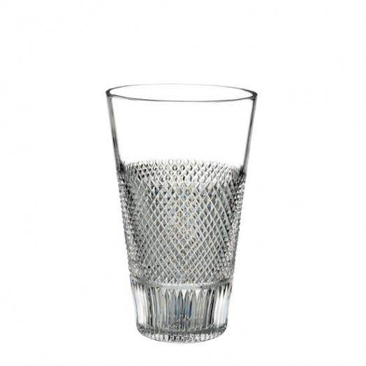Waterford Diamond Line Vase, 8 Inch