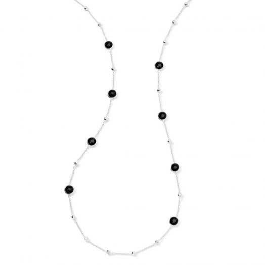 Ippolita Rock Candy® Ball and Stone Necklace, Onyx, Sterling Silver