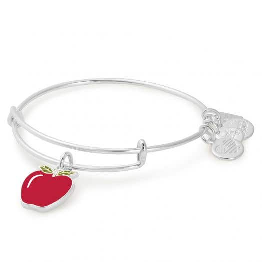 Alex and Ani | Apple Charm Bangle | Blessings in a Backpack