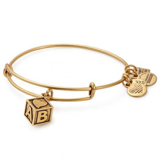 Alex and Ani | Baby Block Charm Bangle | March of Dimes