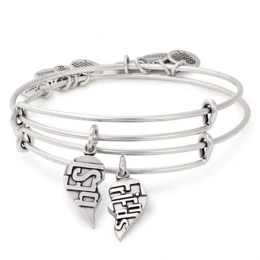 Alex and Ani | Best Friends Set of 2 Charm Bangles | American Heart Association