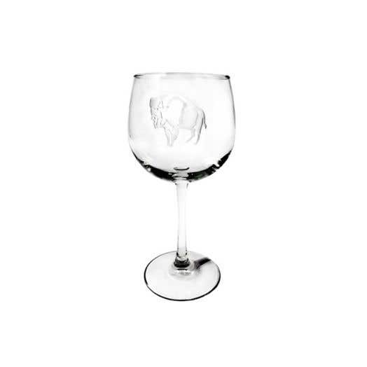Standing Buffalo Signature Balloon Wine Glass