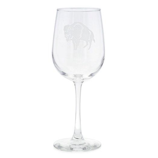 Standing Buffalo Wine Glass