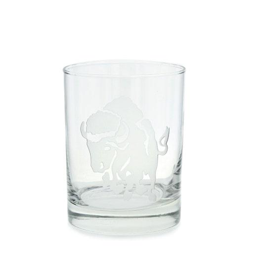 Charging Buffalo Double Old Fashion Glass