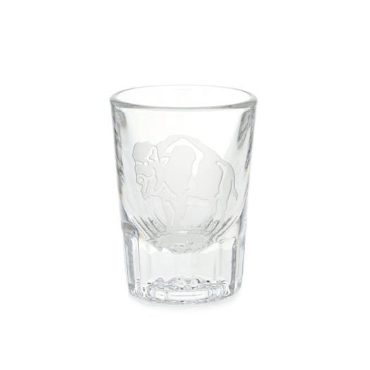 Sterling Cut Glass Standing Buffalo Shot Glass