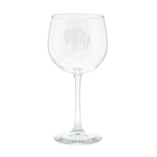 Standing Buffalo Balloon Wine Glass